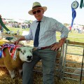 Jon Studley with prize winning Cattistock Texels ram