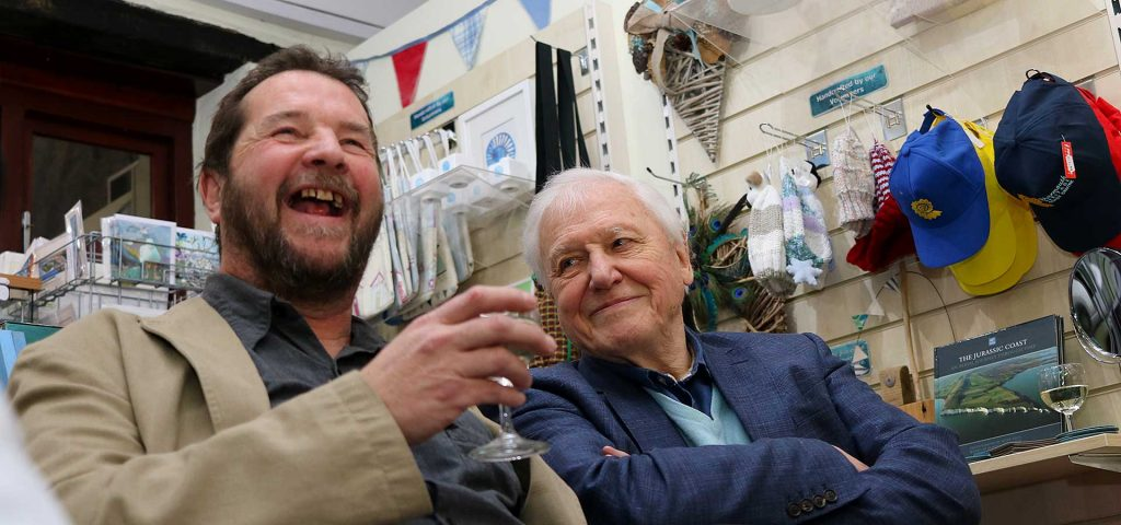 Chris Moore and Sir David Attenborough