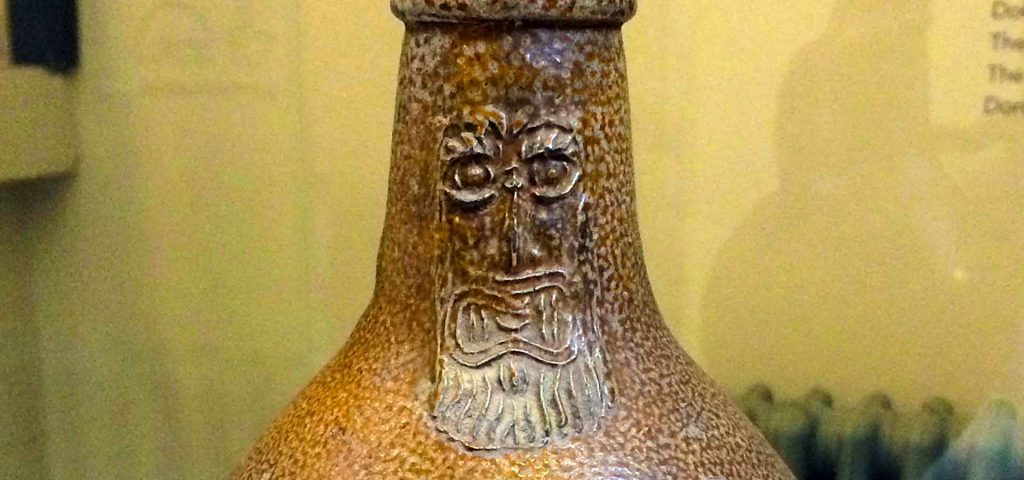 Bellarmine Jug detail. Photo by Mark North